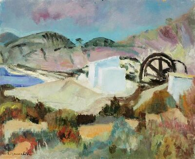 Willy Eisenschitz, 'landscape with mill', ca. 1960