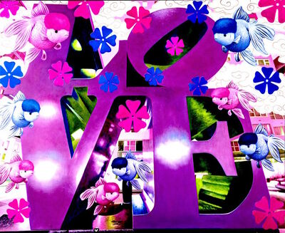 Hiro Ando, 'purple love', 2010