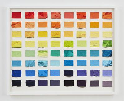 Vik Muniz, 'Untitled (Crumpled Chromatic Scale) S, Handmade', 2017