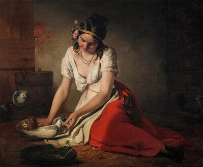 Friedrich von Amerling, 'Pigeon Girl', 1840