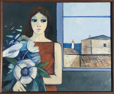 Charles Levier, 'Jeune Fille aux Fleurs', ca. 1980