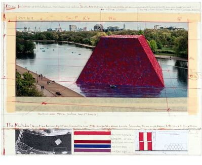 Christo and Jeanne-Claude, 'The Mastaba (Project for London, Hyde Park, Serpentine Lake)', 2019