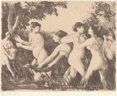 Camille Pissarro, 'Baigneuses luttant (Wrestling Bathers)', ca. 1896