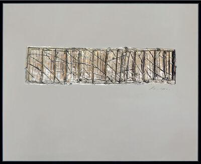 George Dunbar, 'Liatris - Alluvion Series Palladium over blue and gray clay 50h x 61.50w in', 2018