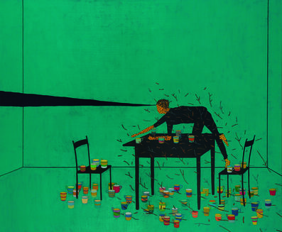 Stephen Chambers, 'Gravity (with Crawling Child)', 2005