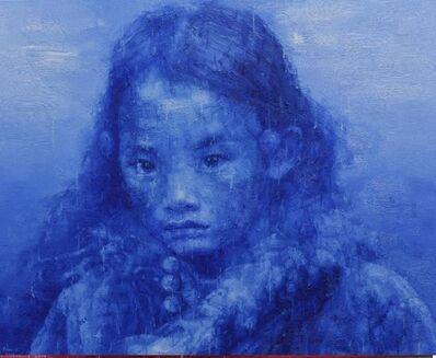 Adam Chang, 'Tibetan Girl in Blue, , , 90 x 110 cm', 2019