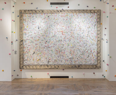 Pascale Marthine Tayou, 'Fresque de craies D', 2015