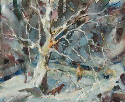 John E. Costigan, 'Tree with Heavy Snow', 1959