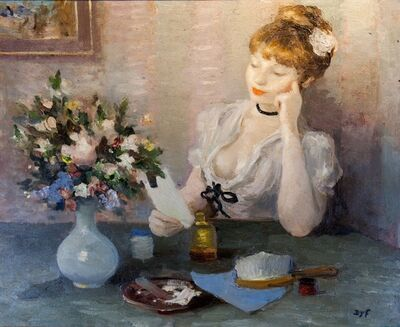 Marcel Dyf, 'Claudine Songeuse (Claudine Pensive)', ca. 1925