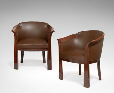 Pierre Chareau, 'Pair of Armchairs model MF208', 1929