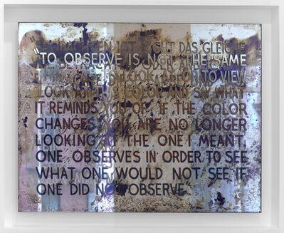 Mel Bochner, 'If The Color Changes...', 2018