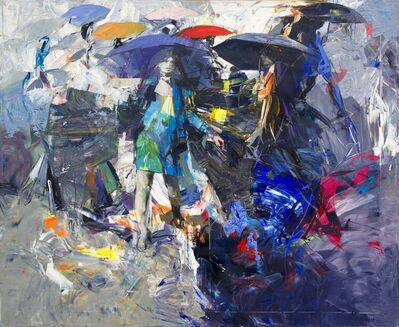Antonio Tamburro, 'Umbrellas in chaos', 2019