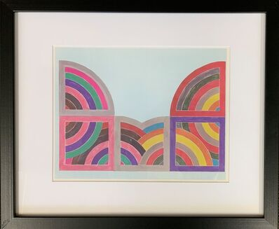 Frank Stella, 'A plate showing a study for a painting (Hagmatana II), from the Portfolio by the Washington Museum of Modern Art', 1966