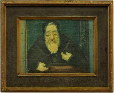 Avraham Goldberg, 'Rabbi in Study', 20th Century