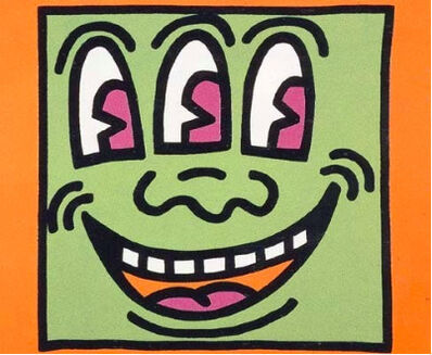 Keith Haring, 'Three Eyed Monster (from Icons E)', 1990