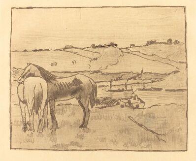 Edgar Degas, 'Horses in the Meadow (Chevaux dans la prairie)', ca. 1891/1892