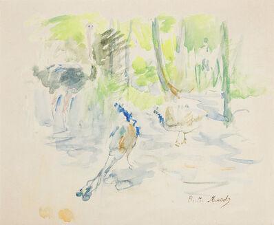 Berthe Morisot, 'Autruches et Paons au Jardin d'Acclimatation', 1884