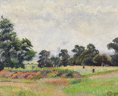 Lucien Pissarro, 'The Golf Links, Acton (A June Morning)', 1906