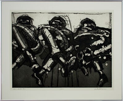 Lester Johnson, 'Three Seated Men', ca. 1971