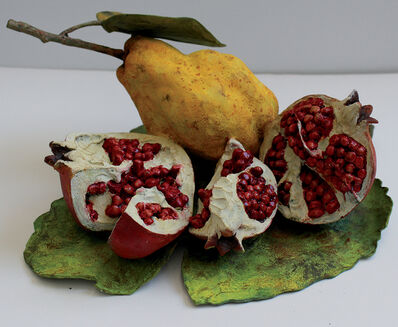 Rafael Muyor, ' Quince with split pomegranate', 2020