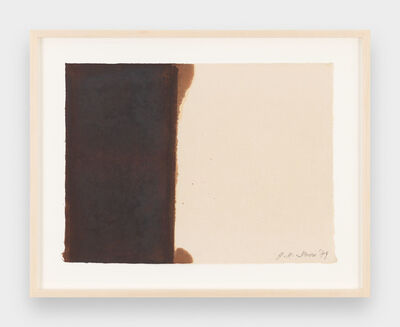 Yun Hyong-keun, 'Burnt Umber & Ultramarine', 1989