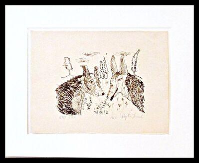 Roy De Forest, 'Dingo and Ratu (Deaccessioned from the Denver Art Museum)', 1973