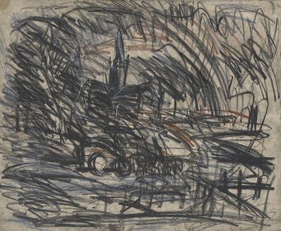Leon Kossoff, 'From Constable 'Salisbury Cathedral from the Meadows''