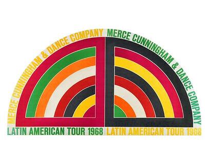 "Frank Stella, '""Merce Cunningham & Dance Company- Latin America Tour 68"", Poster', 1968"