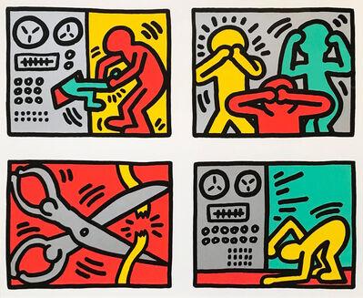"Keith Haring, '""Untitled"" Pop Shop Quad III', 1989"
