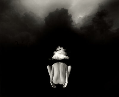 Jerry Uelsmann, 'Untitled (Figure with head and Clouds)', 2011
