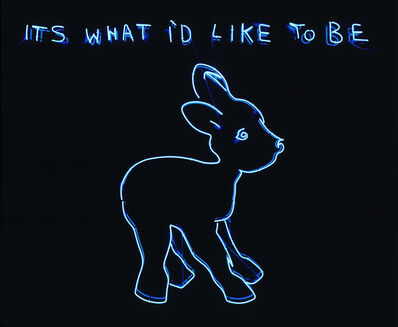 Tracey Emin, 'Its what I'd like to be', 1999