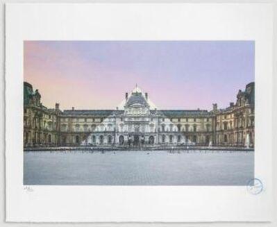 JR, 'AU LOUVRE, LA PYRAMIDE, 12 JUIN 2016, 5H55 © PYRAMIDE, ARCHITECTE I. M. PEI, MUSÉE DU LOUVRE, PARIS, FRANCE', 2016