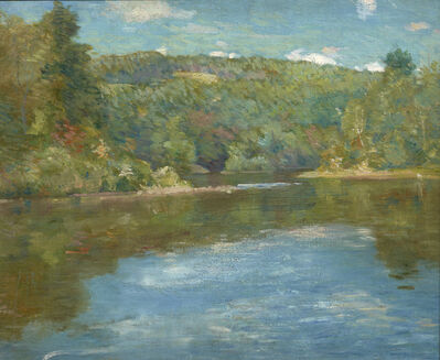 Julian Alden Weir, 'Shetucket River', ca. 1910