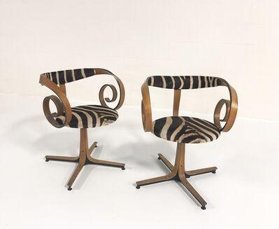 George Mulhauser, 'Sultana Chairs Restored in Zebra Hide', ca. 1965