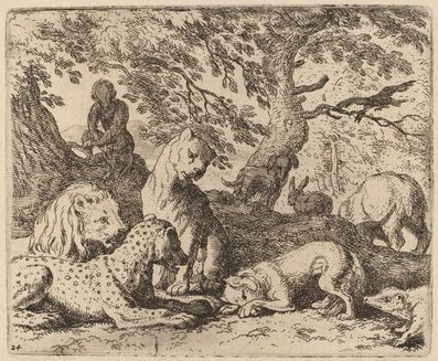 Allart van Everdingen, 'Reynard Winds His Tale and Wrongs His Father', probably c. 1645/1656