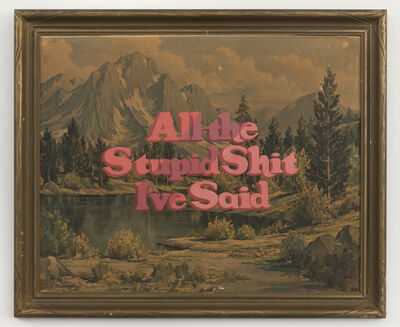 Wayne White, 'All the Stupid Shit I've Said', 2017