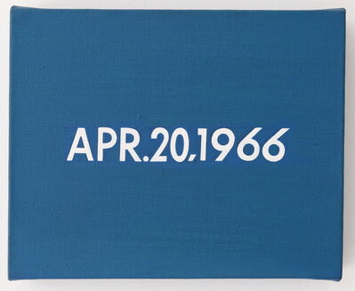 "On Kawara, 'APR.20,1966 ""A dog delayed thousands of New York's subway riders for 2 hours""', 1966"