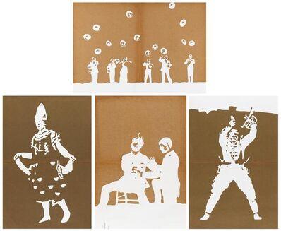 Ulla von Brandenburg, 'Untitled. Mixed lot of four silhouettes.', 2014