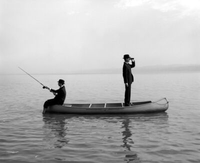 Rodney Smith, 'Twins in Canoe, Snedens Landing, NY'