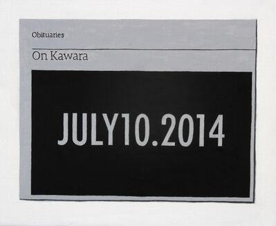 Hugh Mendes, 'Obituary: On Kawara', 2014
