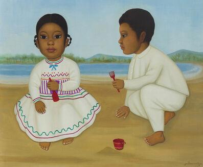 Gustavo Montoya, 'Ninos en la Playa', 1973