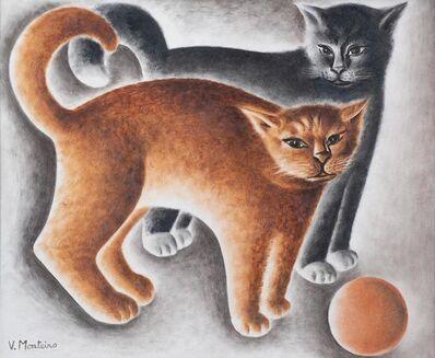 Vicente do Rego Monteiro, 'Dois Gatos [Two Cats]', ca. 1950