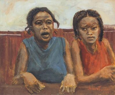 Andrew Turner, 'Untitled, African American Girls, Realist Painting', 1970-1979