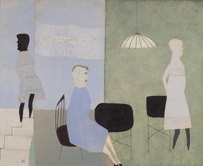 Anne Rothenstein, 'Three Blue Figures ', 2014