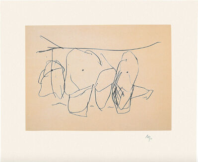 Robert Motherwell, 'Mexico City Personages I from Octavio Paz Suite', 1988