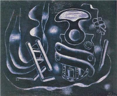 Fernand Léger, 'Le tire-bouchon sur fond bleu', 1932