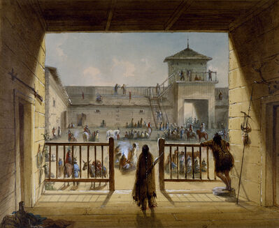 Alfred Jacob Miller, 'Interior of Fort Laramie', 1858-1860