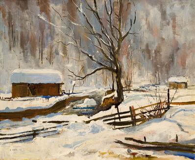 Ernst Huber, 'Ernst Huber Winter Landscape 1943', 1943