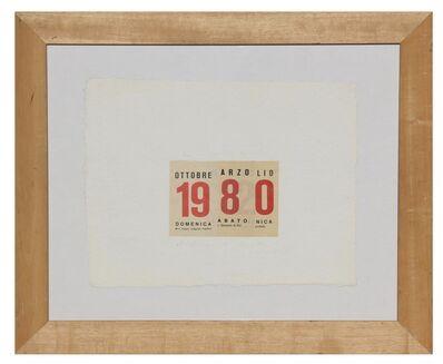 Alighiero Boetti, 'Calendario ', 1980