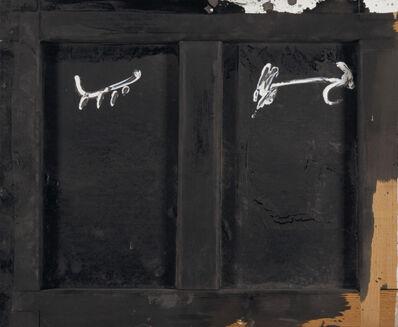 Antoni Tàpies, 'Parpella sobre negre', 1985